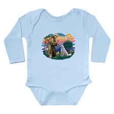 St Francis #2/ Kuvacz Long Sleeve Infant Bodysuit