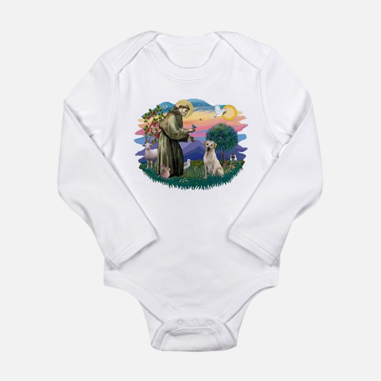 St.Francis #2/ Yellow Lab Long Sleeve Infant Bodys