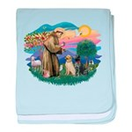 St.Francis #2/ Two Labradors baby blanket