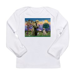 St Francis/Yellow Lab Long Sleeve Infant T-Shirt