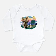 St.Francis #2/ Lhasa Apso (# Long Sleeve Infant Bo