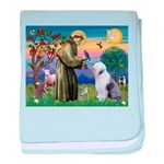 ST. FRANCIS + OES baby blanket
