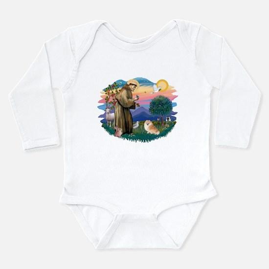 St.Francis #2/ Pomeranian (r) Long Sleeve Infant B