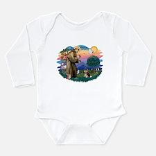 St.Francis #2/ Pomeranian (T Long Sleeve Infant Bo
