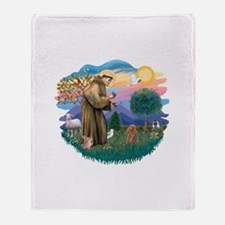 St.Francis #2/ Poodle (Toy A) Throw Blanket