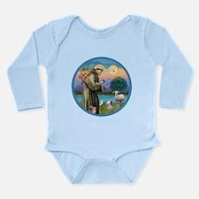 St Francis / Poodle (parti) Long Sleeve Infant Bod