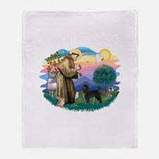 St.Francis #2/ PWD (ret cut) Throw Blanket