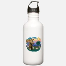 St Francis #2/ Pug (fawn) Water Bottle