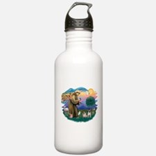 St.Francis #2/ Pugs (2 fawn) Water Bottle