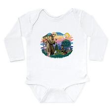 St Francis #2 / Rottweiler Long Sleeve Infant Body