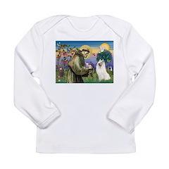 St Francis & Samoyed Long Sleeve Infant T-Shirt