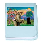 St Francis / Schipperke baby blanket