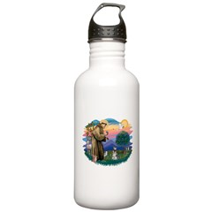 St.Francis #2/ Schnauzer #1 Water Bottle