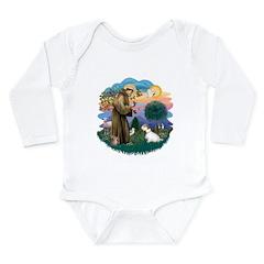 St Francis #2/ Sealyham T Long Sleeve Infant Bodys