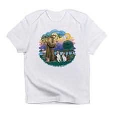 St.Francis (w) / 2 Shelties Infant T-Shirt