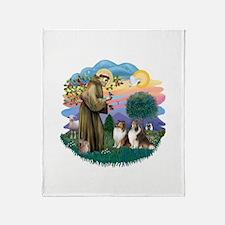 St.Francis #2/ 2 Shelties Throw Blanket