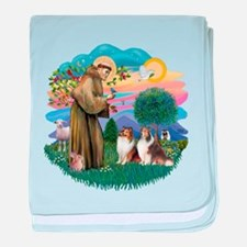 St.Francis #2/ 2 Shelties baby blanket