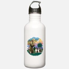 St.Francis #2/ 2 Shelties Water Bottle