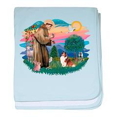St.Francis #2/ Sheltie (sw) baby blanket