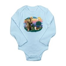 St.Francis #2/ Sheltie (sw) Long Sleeve Infant Bod