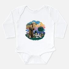 St.Francis #2/ Shih Tzus (4) Long Sleeve Infant Bo