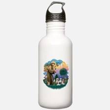 St.Francis #2/ Shih Tzus (4) Water Bottle