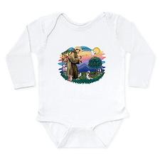 St Francis #2/ Shih Tzu #8 Long Sleeve Infant Body