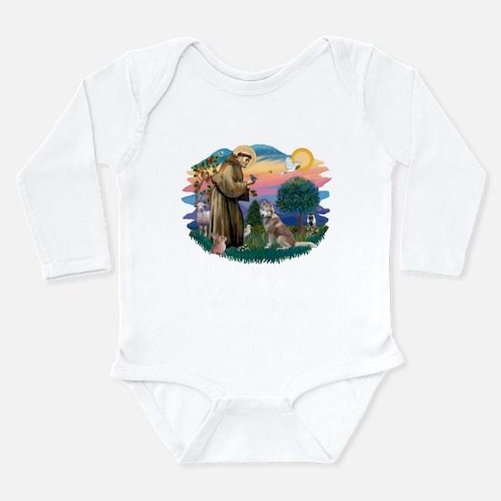 St Francis #2/ S Husky #2 Long Sleeve Infant Bodys