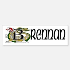 Brennan Celtic Dragon Bumper Bumper Sticker