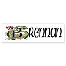 Brennan Celtic Dragon Bumper Sticker