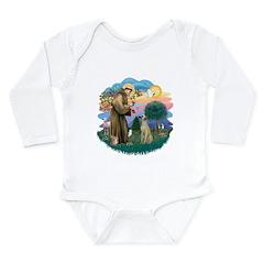 St Francis #2/ Sloughi Long Sleeve Infant Bodysuit