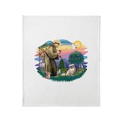 St.Francis #2/ Tibetan Span Throw Blanket