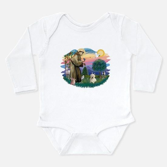 St Francis #2/ Westie #1 Long Sleeve Infant Bodysu