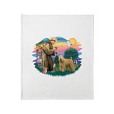 St Francis #2/ Wheaten Throw Blanket
