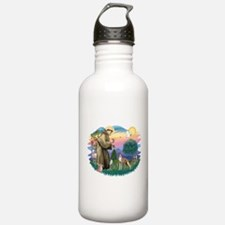 St Francis #2/ Whippet #12 Water Bottle