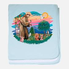 St. Francis / 2 Yorkies baby blanket