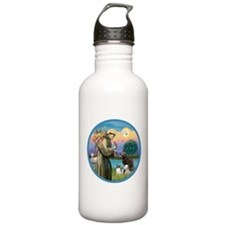 St Francis/3 dogs Water Bottle