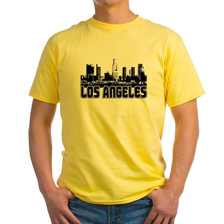 Los Angeles Skyline Yellow T-Shirt
