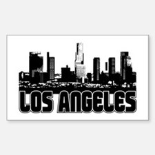 Los Angeles Skyline Sticker (Rectangle)