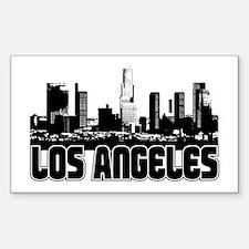 Los Angeles Skyline Sticker (Rectangle)