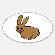 Brown Bunny Oval Decal