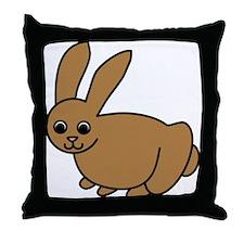 Brown Bunny Throw Pillow