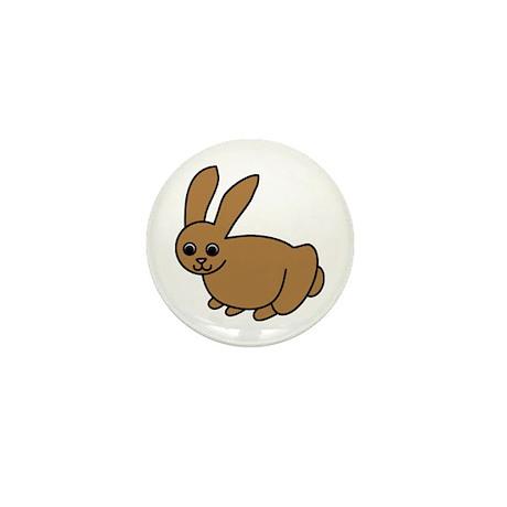 Brown Bunny Mini Button