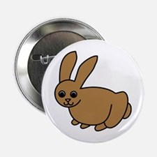 Brown Bunny Button