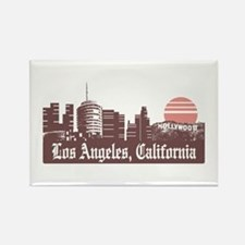 Los Angeles Linesky Rectangle Magnet