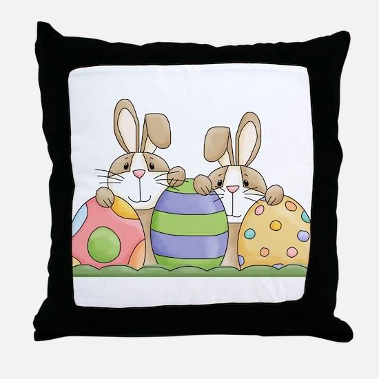 Easter Bunny Inside Easter Egg Throw Pillow
