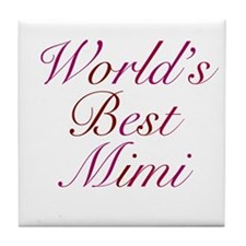 World's Best Mimi Tile Coaster