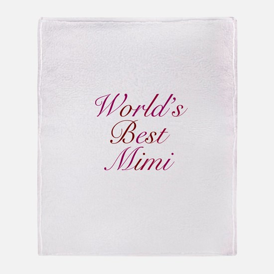 World's Best Mimi Throw Blanket