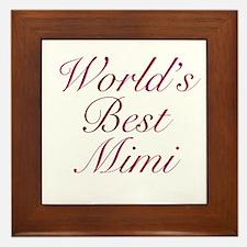World's Best Mimi Framed Tile