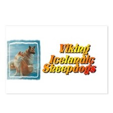 Unique Icelandic sheepdogs Postcards (Package of 8)